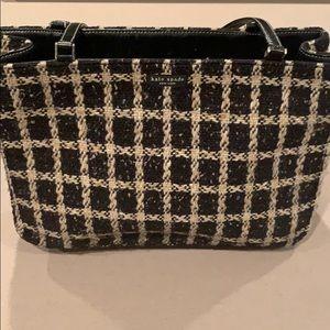 Kate Spade Woven Black and White Handbag